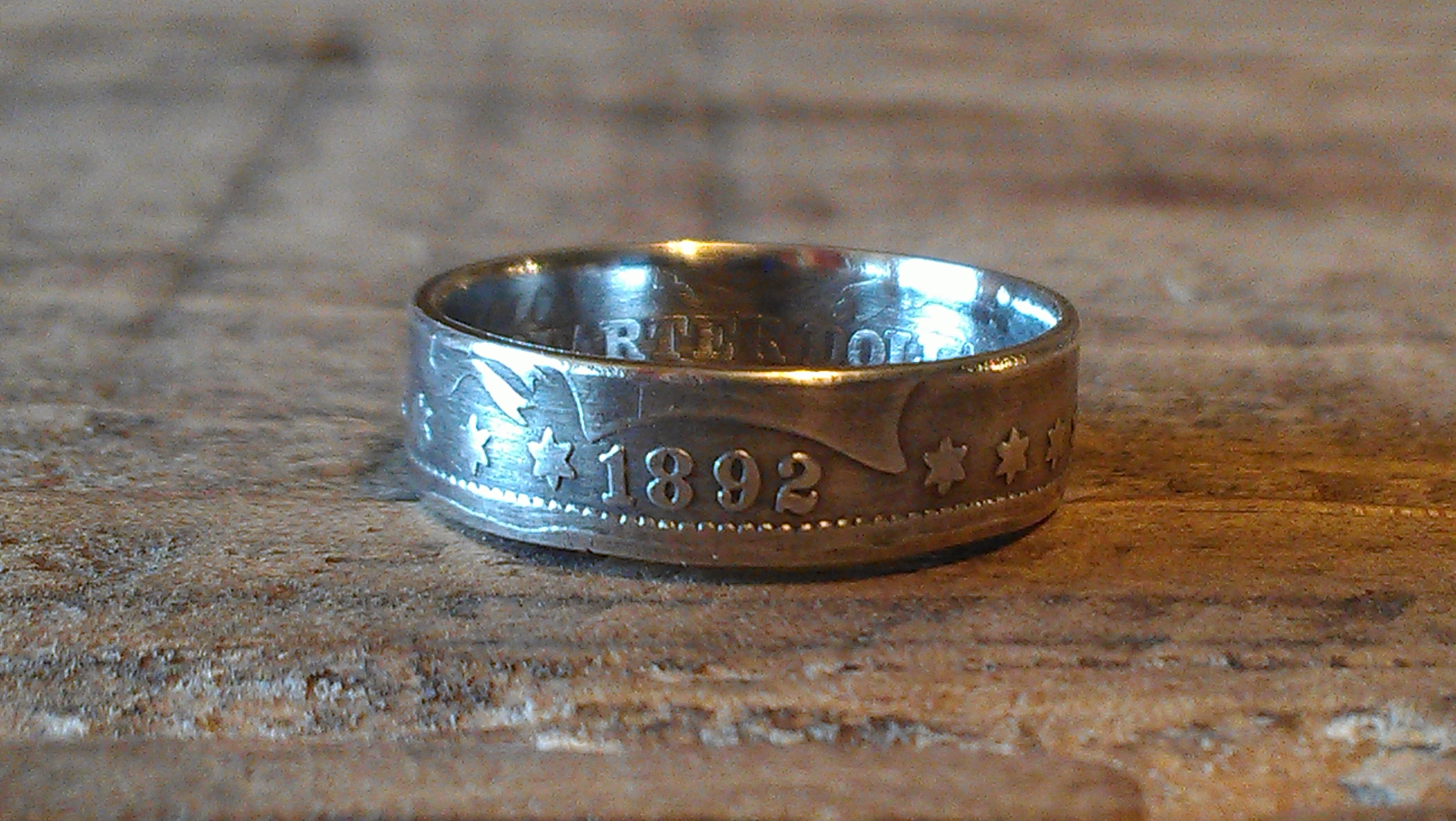 how to make a ring out of a silver quarter