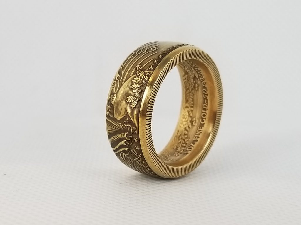One Ounce Gold Eagle Coin Ring ⋆ Coin Rings By The Mint