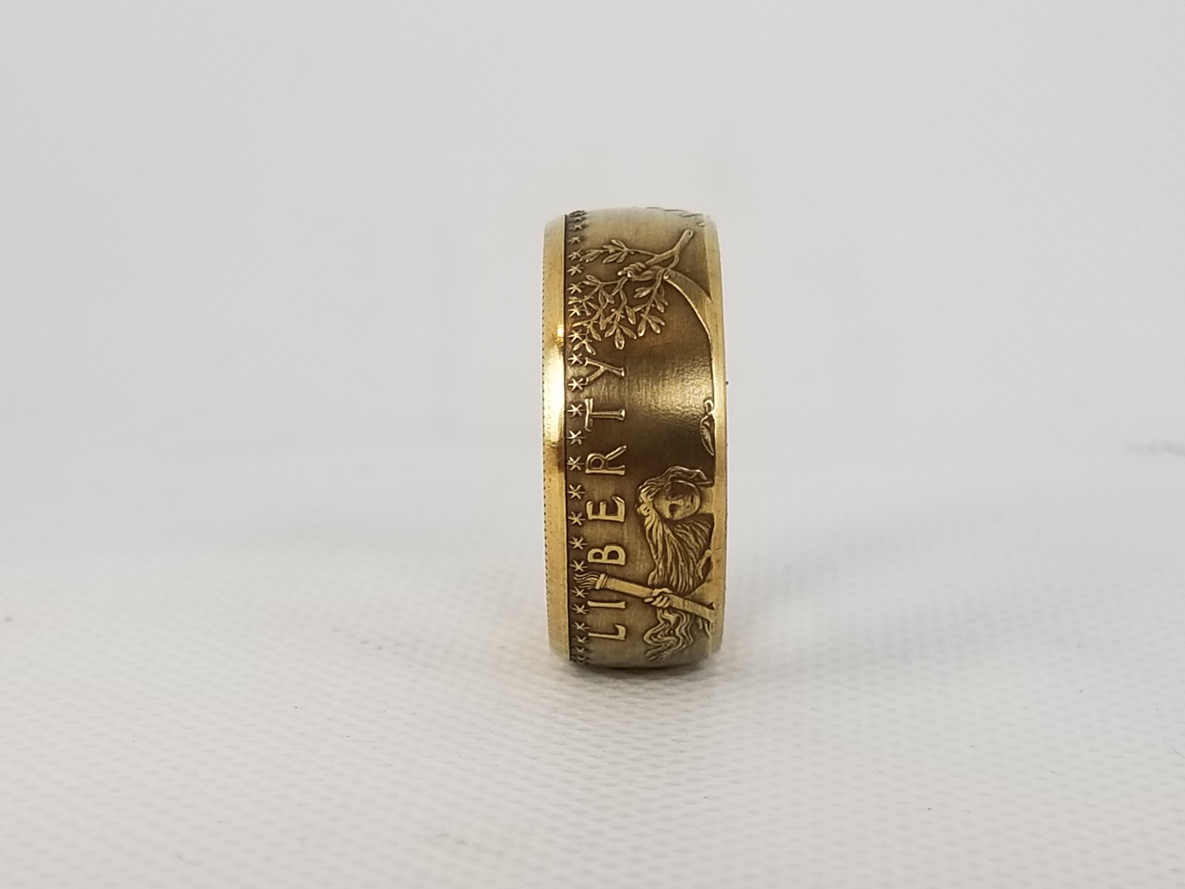 One Ounce Gold Eagle Coin Ring Coin Rings By The Mint