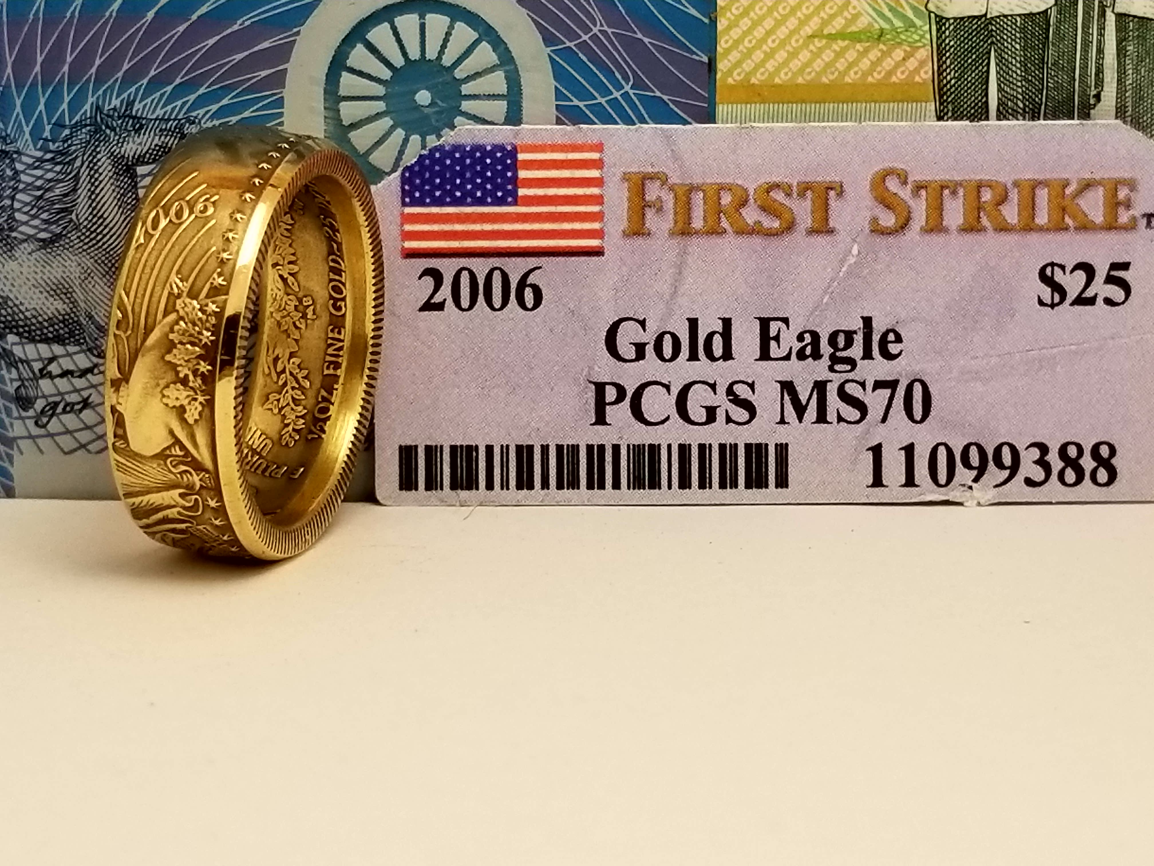 Half Ounce Gold Eagle Coin Ring Coin Rings By The Mint